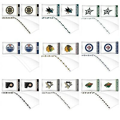 NHL Sheet Set - Hockey Sports Bedding League Team Logo Bedroom - Pick Your Team