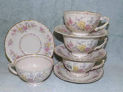 Syracuse Briarcliff Federal Shape 4 Cup & Saucer Sets