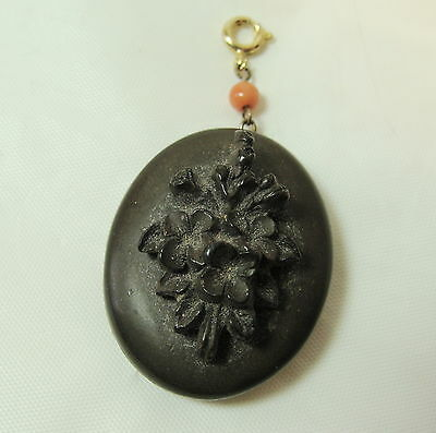 Victorian Gutta Percha Locket Good  Hinge