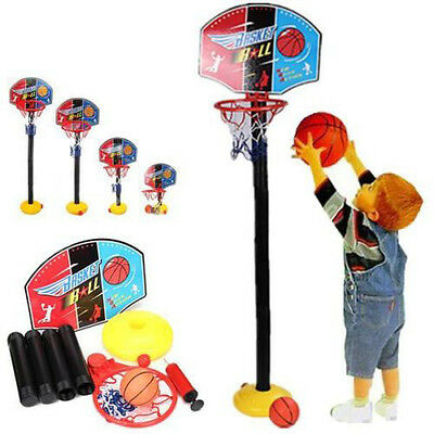 Adjustable Basketball Hoop Toy Set Backboard Fr Kid Baby Toddler Children Sports