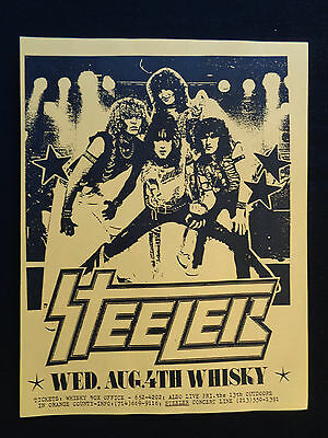 Metallica Concert Flyer Whiskey A Go Go Aug 4th 1982 Steeler Sound Barrier
