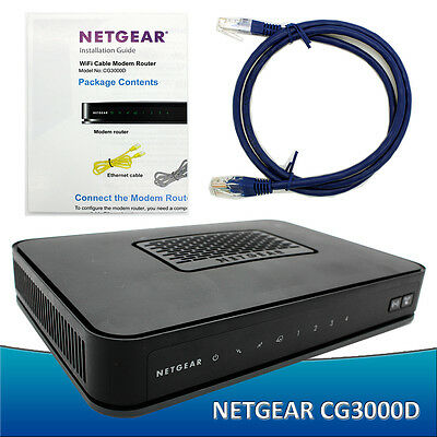 NETGEAR Cg3000d Docsis 3.0 Cable Modem & Wireless N Router  For TWC Cox Charter