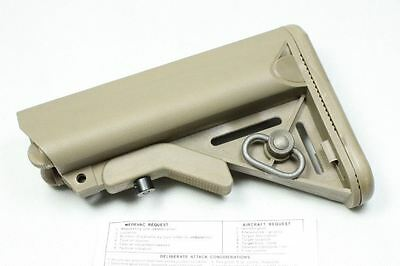 Airsoft M Series Tan Sand De Crane Stock Buttstock With Single Point Uk