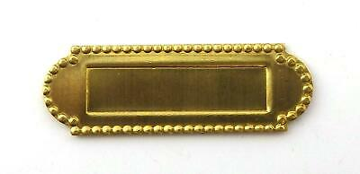 Dolls House Miniature Fittings Door Furniture Brass Mail Slot Letter Box