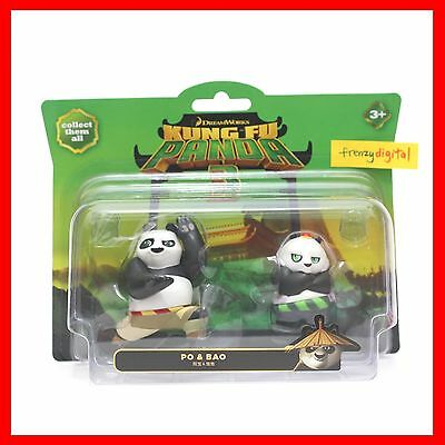 """Dreamworks Kung Fu Panda 3 """"PO & BAO"""" Action Figure Pack Toy NEW"""