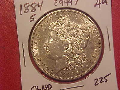 1884 S Silver Morgan Dollar - Cleaned - Au - See Pics! - (E9497)
