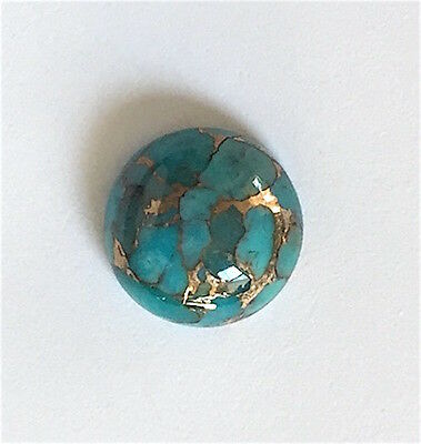 Natural (Arizona) Copper Blue Stabilized Turquoise Round Cabochon (3-12mm)
