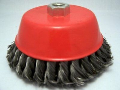 "6"" Knot Cup Brush 5/8-11nc angle grinder wire BIG!"