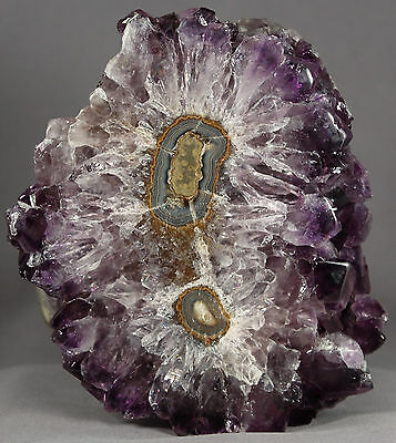 """Freestanding 4.8"""" Natural Double Amethyst Stalactite Specimen Crystal Points"""
