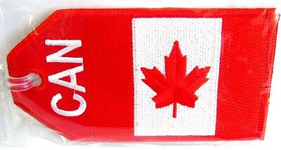 13160 Canada Can Flag Canadian Airlines Aviation Travel Fabric Luggage Bag Tag