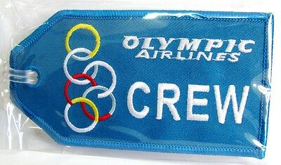 13133 Olympic Crew Airways Airlines Aviation Travel Fabric Luggage Bag Tag