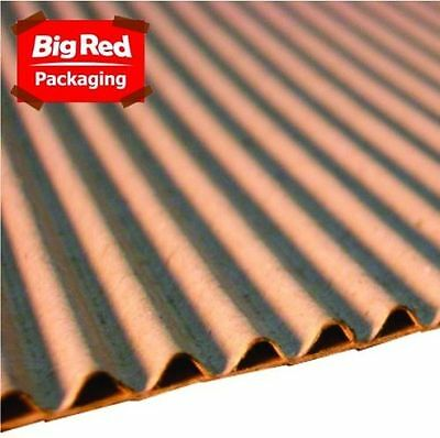 600mm x 75m Single Face Corrugated Cardboard Roll NEW