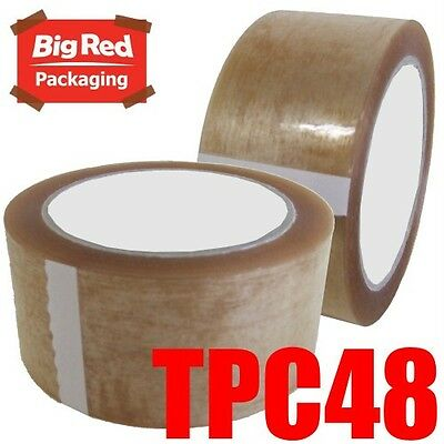 36 x Premium Clear Packaging Packing Sticky Tape 48mm x 75m Bulk Buy