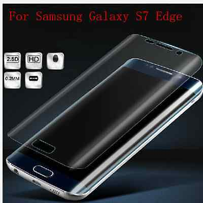 3D Curved Full Cover CLEAR HD Screen Protector Film For Samsung Galaxy S7 Edge