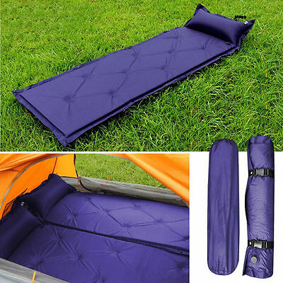 Self Inflating Mat Mattress Pillow Sleeping Bed Camping Hiking Picnic festivals
