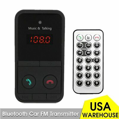 Car Kit MP3 Player Wireless FM Transmitter Modulator USB SD Digital LCD Remote