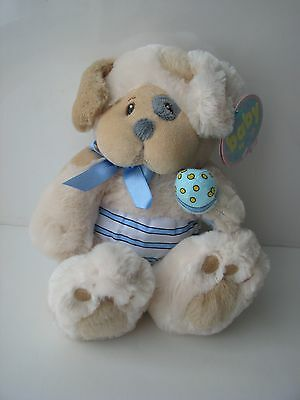"""For Baby Plush Stuffed Dog Pupsie Puppy 8"""" First & Main 2573 DISCONTINUED BY MFG"""