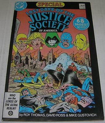 LAST DAYS OF THE JUSTICE SOCIETY SPECIAL #1 (DC 1986) Unpubbed G A pg (FN)