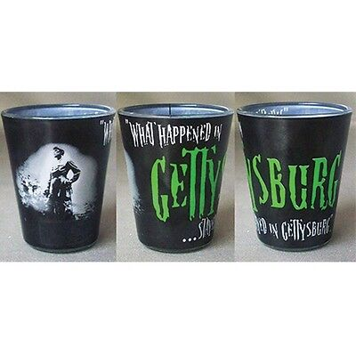 Shot Glass Civil War What Happens In Gettysburg Stayed! Made Of Glass New 25366
