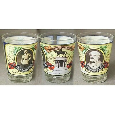 Shot Glass General Robert E Lee Civil War  Made Of Glass New 27166