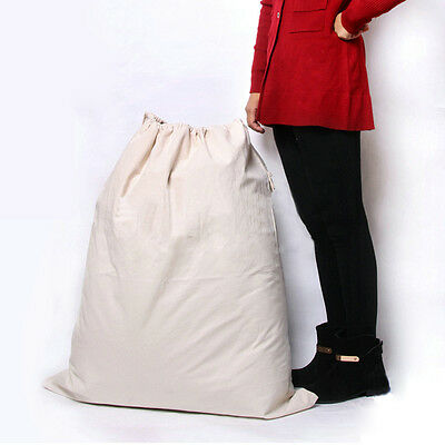 Heavy Duty Large 65x75cm Cotton Canvas Laundry Camping Storage Bag 25x30inch