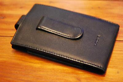 Lodis Black Leather Phone / ID Holder Holster Case