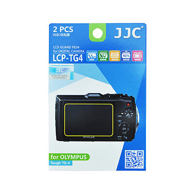 2x Film LCD Screen Display H3 Hard Protection for Olympus Tough TG-4