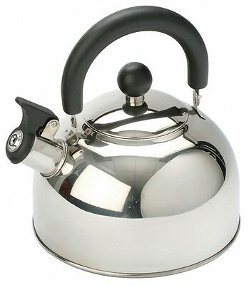 Vango Kettle 1.6L Silver Steel With Folding Handle