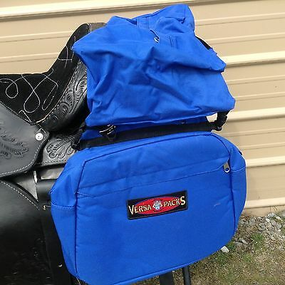 Hamilton Versa-Packs blue waterproof/insulated saddle bags w/removable bag