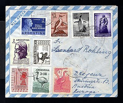 9072-ARGENTINA-AIRMAIL COVER BUENOS AIRES to BREGENZ (austria) 1961.Aereo.