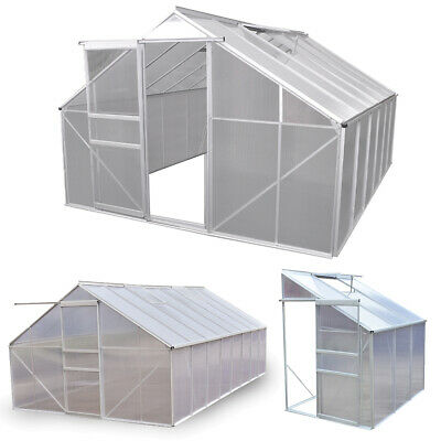 New Aluminum Walk In Greenhouse Outdoor Garden Structure Shade