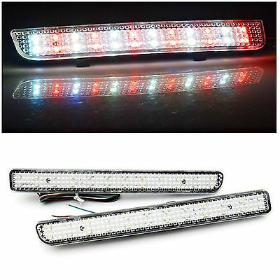 2X Land Rover Bumper Reflector LED Tail Stop Brake Light Discovery 3 4 LR3 LR4