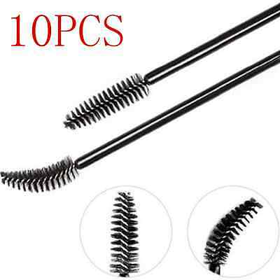 10Pcs Makeup Tool Oblique Design Rotate Eyebrow Brush Cosmetic Brow Brush hs