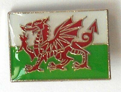 Small Welsh Dragon Flag of Wales Enamel Pin / Lapel Badge