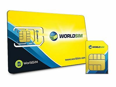 WorldSIM International SIM Card - Including £10 Credit