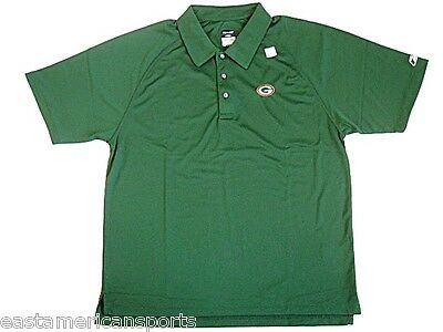 Green Bay Packers NFL Reebok Dry Fit Golf Polo Green Collared Shirt Medium M 374dccdd3