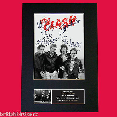 THE CLASH Quality Signed Autograph Mounted Photo Reproduction A4 Print 608