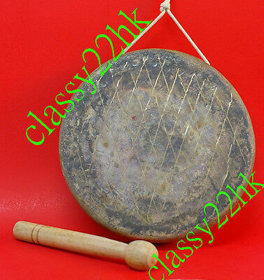 REAL WUHAN Professional Quality Chinese Lion Dance Gong 30CM Dia (12IN) w/stick