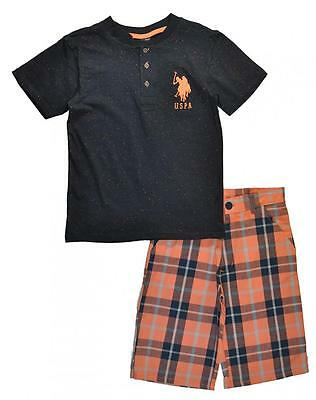 U.S. Polo Assn Big Boys Speckled Top 2pc Short Set Size 8 10 12 $44