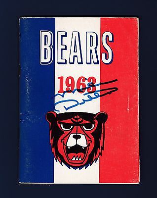 Mike Ditka signed 1963 Chicago Bears World Champions football media guide