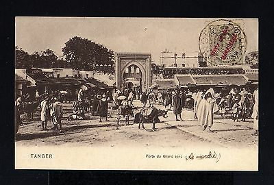 8836-SPANISH MOROCCO-SPAIN COLONIES-POSTCARD TANGER to FRANCE.1911.MARRUECOS.