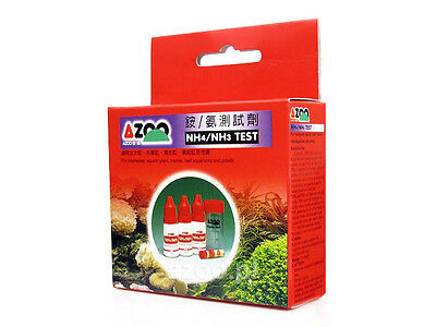 AZOO NH4 /NH3 Test For freshwater, aquatic plant, saltwater, reef aquariums