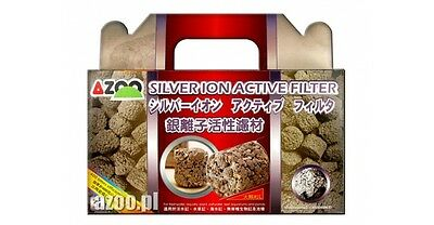 AZOO SILVER ION ACTIVE FILTER for elimination of pathogenic risk to fish