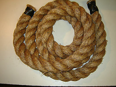 """2"""" Manila Rope Brown Climbing WORKOUT ROPE By the foot SHIPPING INCLUDED"""