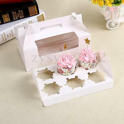 White Muffin Paper Cupcake Box Wedding Party Favor Gift Packing Container Holder