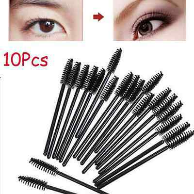 10Pcs Makeup Tool Oblique Design Eyebrow Rotate Brush Cosmetic Brow Brush h9s