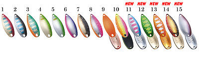 FOREST MIU Native Series 3.5g Trout Spoons Color variations
