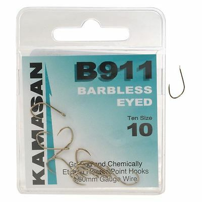 Kamasan B911 Wide Drop Gape Long Curved Point Eyed Fishing Tackle Angler Hooks