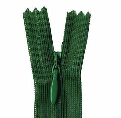 25cm Hunter Green Invisible Zip