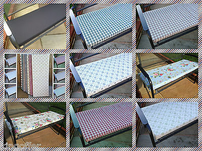 """Garden patio 2 seater reversible bench cushion pads 2"""" thick foam and zipped"""